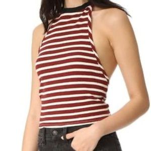 We The Free Rochford Womens Striped Tied HalterTop